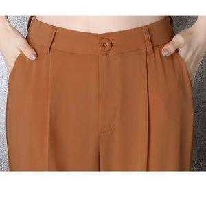 Elastic High Waist Pants